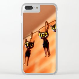 Cocktail cats Clear iPhone Case