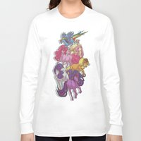 mlp Long Sleeve T-shirts featuring MLP... esque by Sempaiko
