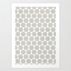 Polka dot Crazy Art Print