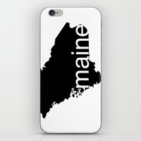 maine iPhone & iPod Skins featuring Maine by Isabel Moreno-Garcia