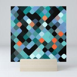 Hip Colorful Round Squares Mosaic Pattern Mini Art Print