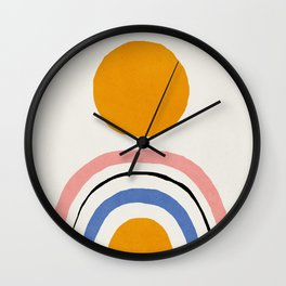 Abstract, Mid century modern kids wall art, Nursery room Wall Clock