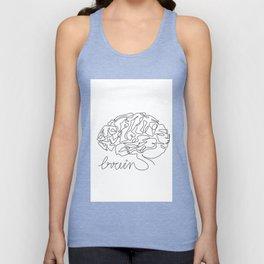 Brain one line drawing Unisex Tank Top