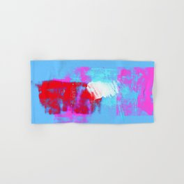 abstract blue pink Hand & Bath Towel
