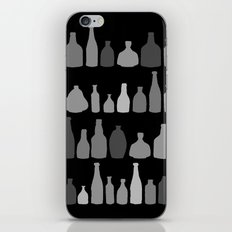Bottles Black and White on Black iPhone & iPod Skin