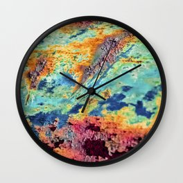 Rusted Ripples Wall Clock