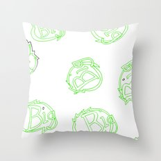 green is big! Throw Pillow