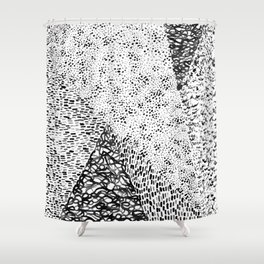 Black & White Form Shower Curtain