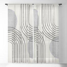 Sun Arch Double - Grey Sheer Curtain