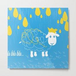 White sheep whit yellow dots Metal Print