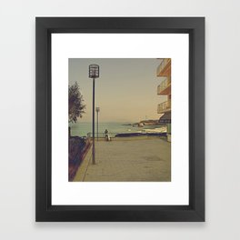 Man's best (surfing) friend Framed Art Print