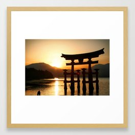 Itsukushima Shrine on Miyajima, Japan Framed Art Print
