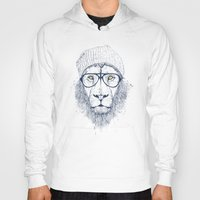 Hoodies featuring Cool lion by Balazs Solti