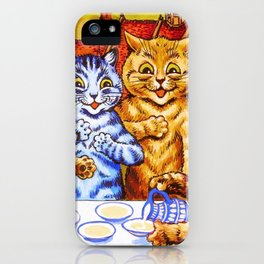 Cats Tea Party - Digital Remastered Edition iPhone Case