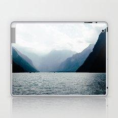 Misty Lake in the Alps Laptop & iPad Skin