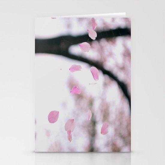 "Cherry Blossom Petals ~ ""Web of Pink Petals"" Stationery Cards"