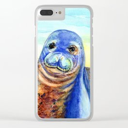 Hawaiian Monk Seal Clear iPhone Case