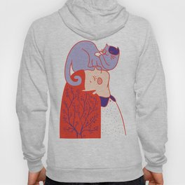 Girl with purple cat Hoody