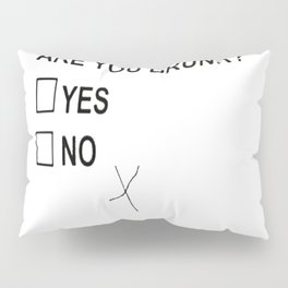 Are You Drunk Pillow Sham