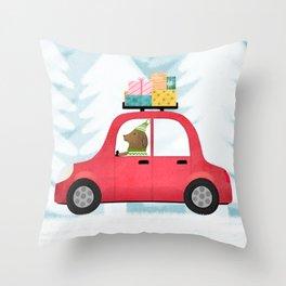 Christmas scene Throw Pillow