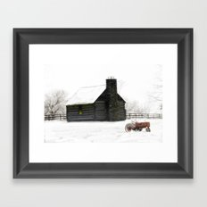 A Snowy Day in the Country Framed Art Print