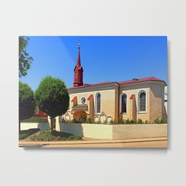 The cemetary church of Schlaegl I   architectural photography Metal Print