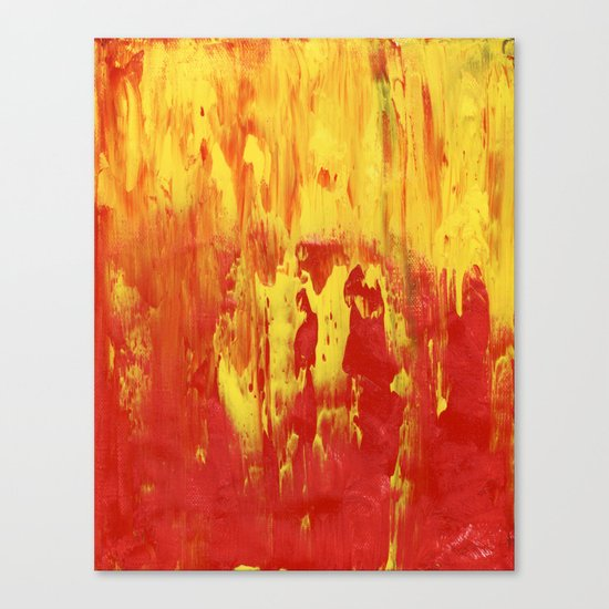 Yellow and Red make Orange Abstract Canvas Print
