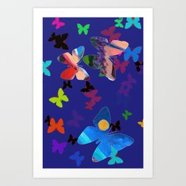 Colorflies Art Print