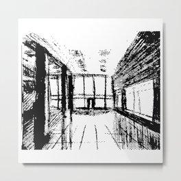 Sketch of interior of Studio Metal Print
