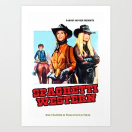 Western Movie Poster Art Print