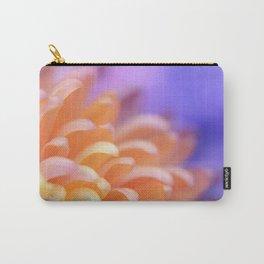 Flower Sunrise | cute pastel flower, peach flowers, orange floral pattern, pretty petals, macro Carry-All Pouch