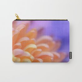 Flower Sunrise | cute pastel flower, peach flowers, orange floral pattern, pretty petals, macro Carry-All Pouch
