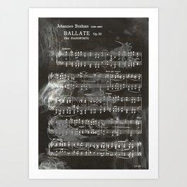 Brahms Sheet Music - Ballade Art Print