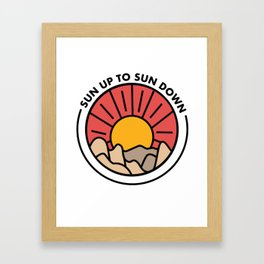 Sun up to Sun down Framed Art Print