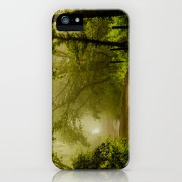 Misty Woodland Lane iPhone Case