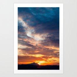 Golden Sunset on Ischia Island, Italy Art Print