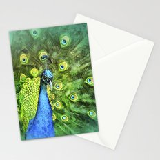 Peacock Pinwheel Stationery Cards