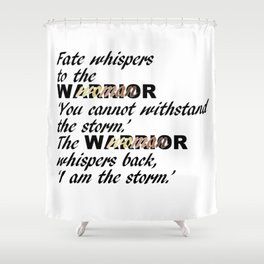 Fate Whispers Black Shower Curtain