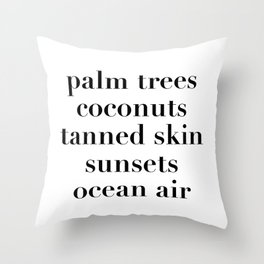 beachy things Throw Pillow