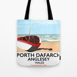 Porth Dafarch, Anglesey vintage travel poster Tote Bag