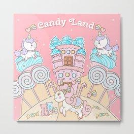 Candy Land Castle Metal Print