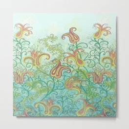paisley garden Metal Print