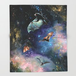 Scream of a Great Bat Throw Blanket