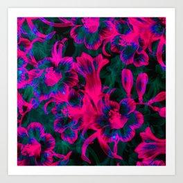 Pink Space Flora Art Print
