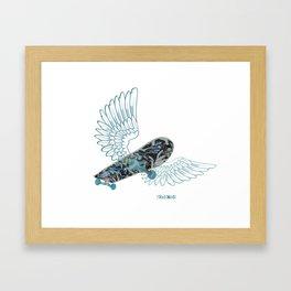 Skateboard on the Sky Framed Art Print