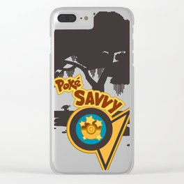 PokeSavvy (no team) Clear iPhone Case