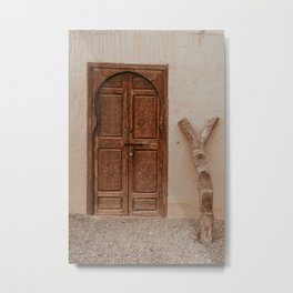 Moroccan door Metal Print