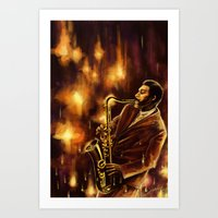 jazz Art Prints featuring Jazz by Linarts