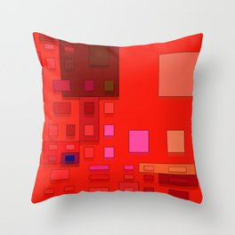 red geometric shapes Throw Pillow