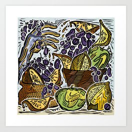 Fruit Basket Redux Art Print